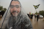 تصاویر | حال و هوای پیادهروی اربعین در جادههای بارانی