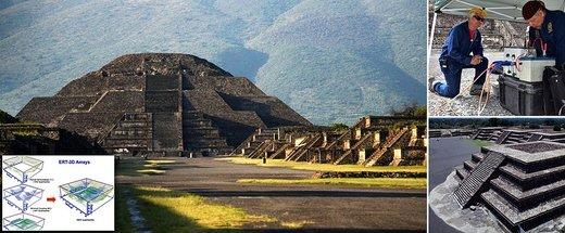 کشف تونل مخفی در هرم ماه مکزیک / عکس