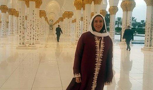 وزیر اسرائیلی در مسجد شیخ زاید/عکس