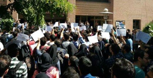 اعتصاب دانشجویان دانشگاه تربیت مدرس/ مسئولان دانشگاه: اعتراض حق آنهاست!