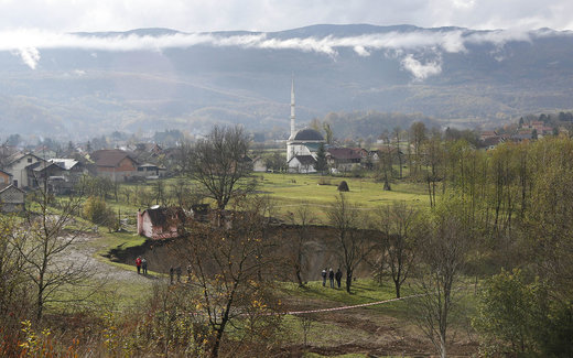 فرو نشست زمین در بوسنی