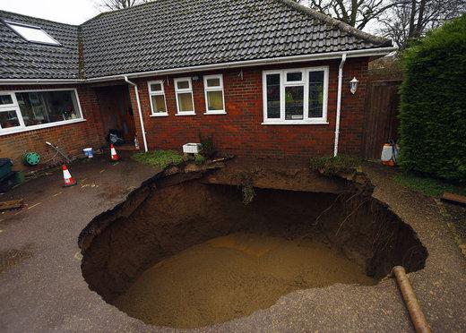 فرونشست زمین در انگلستان