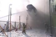 تصاویر | هواپیمای اسقاطی ماهان در فرودگاه امام آتشگرفت