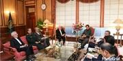 ظریف با عمران خان دیدار کرد/عکس