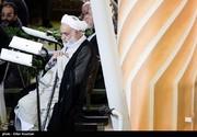 عکس | قرائتی در نمازجمعه امروز تهران