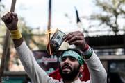 تصاویر | سوزاندن دلار در راهپیمایی ۱۳ آبان