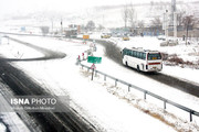 نخستین برف پاییزی در قزوین به زمین نشست
