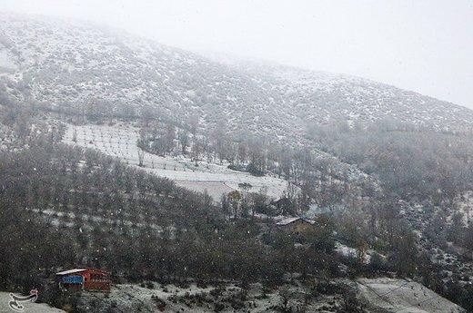 بارش برف در ییلاقات رحیم آباد گیلان
