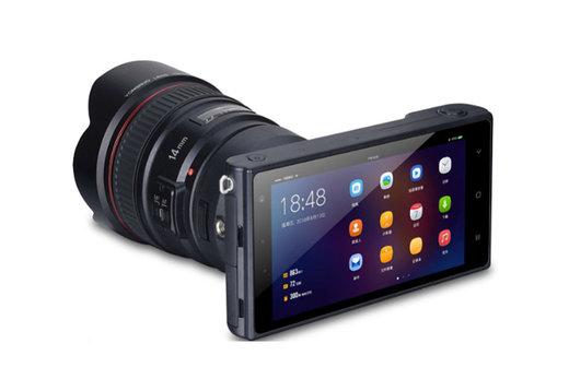 به این دوربین اندرویدی میتوان لنزهای حرفهای وصل کرد/ عکس