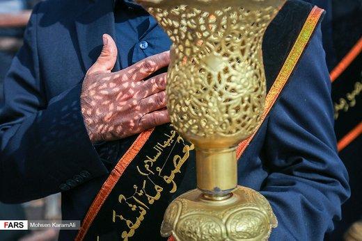 دسته عزاداری خدّام کریمهاهلبیت در سالروز شهادت امام رضا(ع)