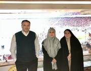 حضور نمایندگان زن مجلس در ورزشگاه آزادی /عکس