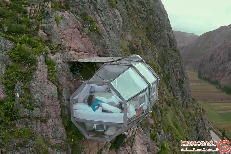 هتل عجیب مخصوص صخره نوردان