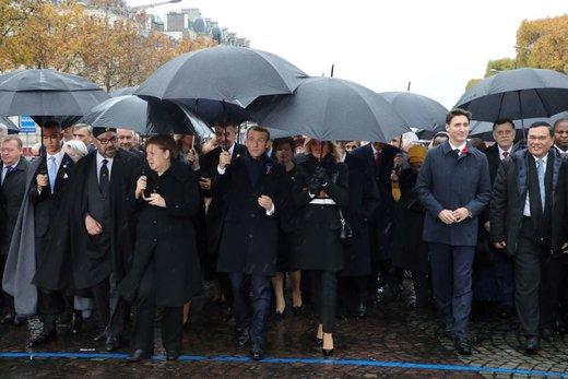 تصاویر | گردهمایی رهبران جهان در پاریس