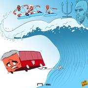 اینطوری اتوبوس آقای خاص را غرق کردند!