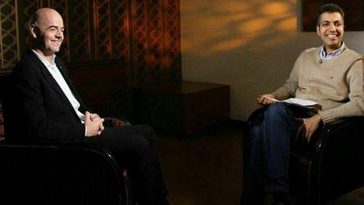 مصاحبه رئیس فیفا و فردوسیپور لو رفت/ اینفانتینو: دخالت شخصثالث باعث تعلیق فوتبال میشود