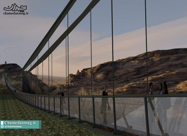 افتتاح نخستین پل تمام شیشهای ایران در اسفند ماه