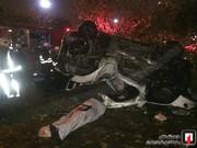 تصاویر | واژگونی ۲۰۶ در اشرفی اصفهانی جان راننده ۲۳ ساله را گرفت