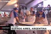 فیلم   آرژانتینیها رکورد پخت پیتزا را شکستند