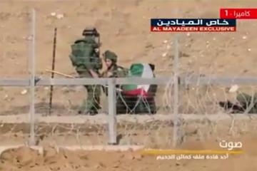 فیلم | هلاکت سربازان صهیونیست با انفجار میله پرچم!