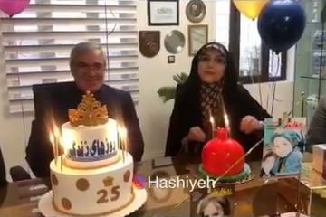 فیلم | جشن تولدی که فتحاللهزاده برای خانم مجری گرفت