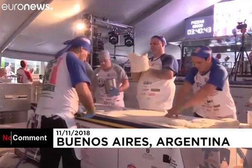 فیلم | آرژانتینیها رکورد پخت پیتزا را شکستند