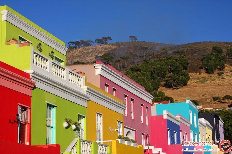 محله بوکاپ در شهر کیپتاون؛ آفریقای جنوبی