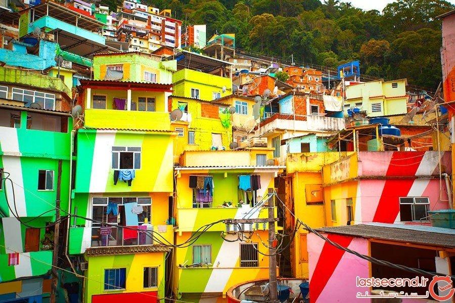 سانتا مارتا در شهر ریو دو ژانیرو؛ برزیل
