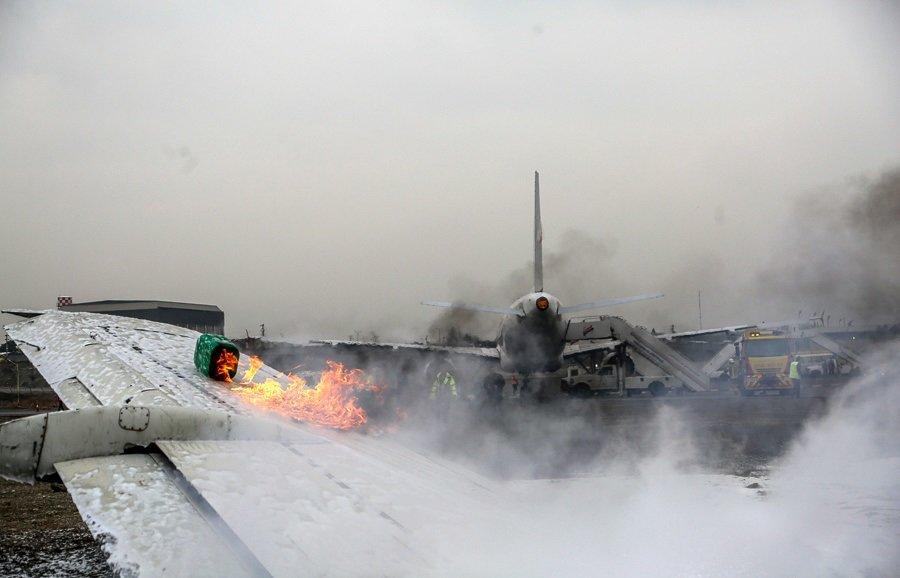 تصاویر | مانور شرایط اضطراری در فرودگاه مهرآباد تهران