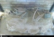 نمایش اسکلت ۵ هزار ساله در موزه نیشابور