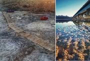 افزایش پهنه و حجم آبی دریاچه ارومیه درپی بارشهای اخیر/ پل میانگذر بر خشک شدن دریاچه ارومیه تأثیر گذاشته است