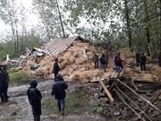 تخریب بنای غیرمجاز احداث شده در حاشیه تالاب انزلی