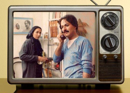 دعوای زن و شوهری کتایون ریاحی و امین تارخ در فیلمی قدیمی