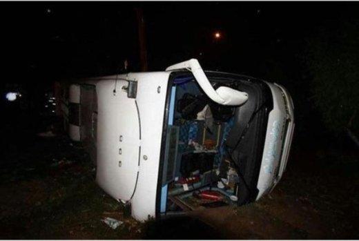 واژگونی اتوبوس بانوان کاراته کار فارس