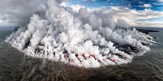 عکس   جزیره آتشین در عکس روز نشنال جئوگرافیک
