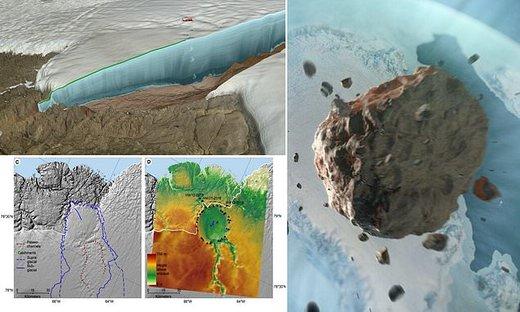 کشف شهابسنگ ۱۲ میلیارد تنی ۱۲هزارساله زیر یخهای گرینلند/ عکس
