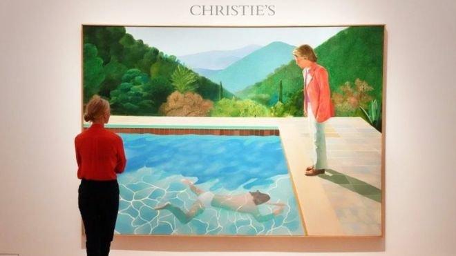 رکوردشکنی در نیویورک/ گرانترین تابلوی نقاشی که خالق آن هنوز زنده است/ عکس