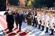 تصاویر | استقبال رسمی روحانی از رئیسجمهور عراق
