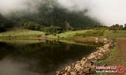 دریاچه ویستان، همنشینی خورشید و مه در رودبار + تصاویر