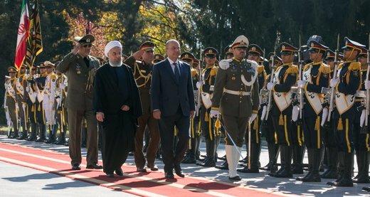استقبال رسمی حسن روحانی از رئیس جمهور عراق + تصویر