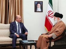 عکس|دیدار رئیس جمهوری عراق با رهبر انقلاب