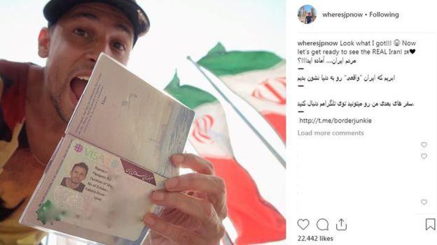 خوشحالی گردشگر و جهانگرد آمریکایی از دریافت ویزای ایران