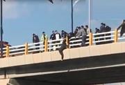 فیلم | لحظه حساس نجات جوان مهابادی از خودکشی