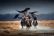 تصاویر | زندگی کوچنشینان مغلولستان در کنار عقابها