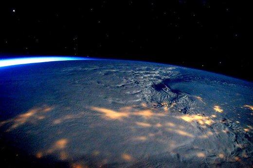 عکس گرفته شده از  تاثیر طوفان زمستانی بر ساحل شرقی ایالات متحده