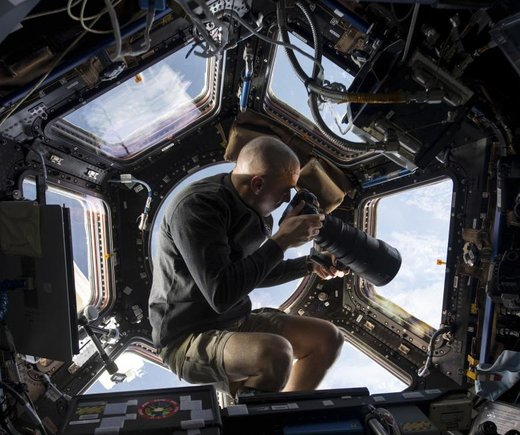 عکسبرداری فضانورد ناسا از زمین