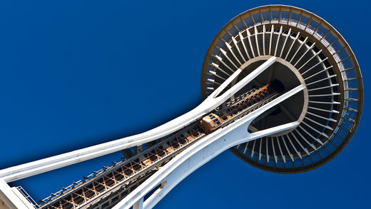 برج سوزن فضایی در شهر سیاتل آمریکا