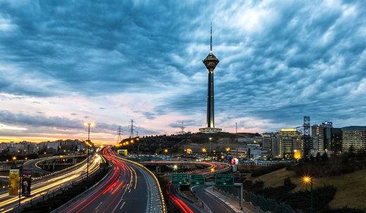 برج میلاد در شهر تهران ایران