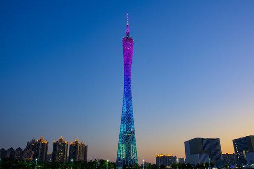 برج کانتون در شهر گوانگژو چین