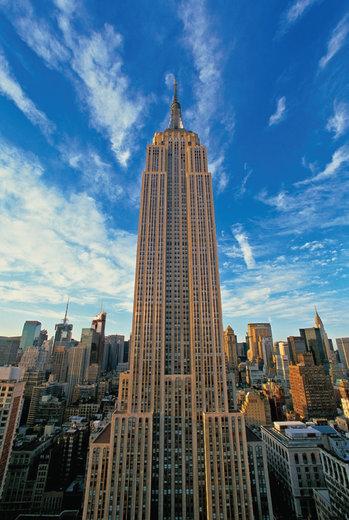 ساختمان امپایر استیت در شهر نیویورک آمریکا
