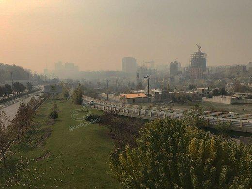 تصاویر | آلودگی شدید هوای تهران